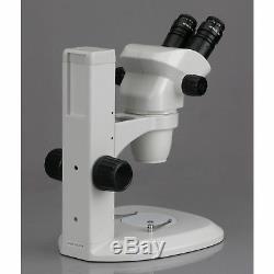AmScope Ultimate 6.7x-45x Binocular Parfocal Stereo Zoom Microscope & Track Stan