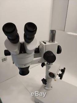 AmScope WF10X/20 Binocular Stereo Microscope with Boom Arm WD165 0.5X