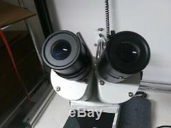 AmScope WF10X/20 Stereo Microscope Boom Arm with Gooseneck Light