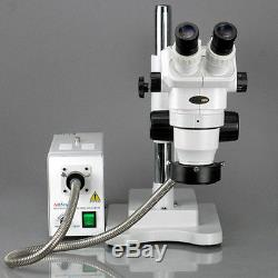AmScope ZM-4BW-FOR 6.7X-112.5X Binocular Stereo Zoom Microscope + 3D Boom