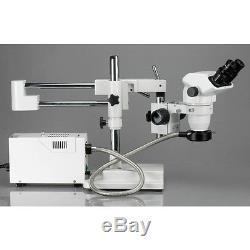 AmScope ZM-4BZ3-FOR 2X-90X Binocular Stereo Boom Microscope + Fiber Ring