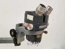 American Optical AO570 Stereo Star Zoom Microscope w Boom Stand AS IS