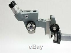 American Optical Cycloptic Stereo Microscope Binocular AO Zoom 10x With Boom Stand