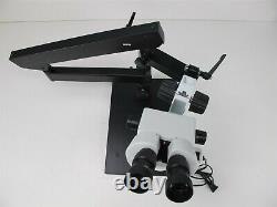 Amscope 7X-45X Articulating Arm Stereo Microscope with Ring Light