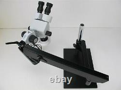 Amscope 7X-45X Simul-Focal Articulating Arm Stereo Microscope with Ring Light