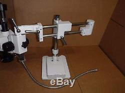 Amscope Usb Binocular Stereo Microscope Boom Arm