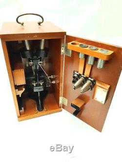 Antiguo microscopio BINOCULAR 1902 Antique stereo ZEISS microscope Microskop