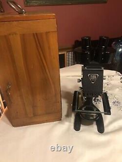 Antique Bausch & Lomb Binocular Stereo Microscope 1915 -1935