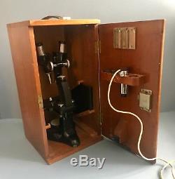 Antique Beck London Binomax Binocular Stereo Microscope Original Case c. 1929
