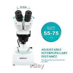 Aomekie Stereo Microscope 20X/40X Professional Binoculars Microscopes For Kids
