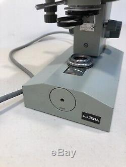 Aus Jena T 250 Stereo Binocular Microscope Working