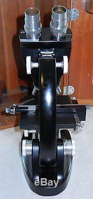 BAUSCH & LOMB Binocular Microscope in Case w 3.7x 10x 43x 97x + 6 Eye Pieces