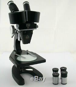 BECK Germany stereo binocular Mikroskop microscope prime Zeiss 4x 6 eyesight /20