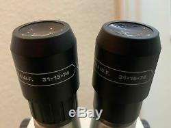 Bausch & Lomb Microscope Stereo Zoom & Boom Stand, 15X Ultra W. F. 31-15-74