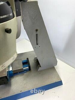 Bausch & Lomb Stereo Microscope Head W Heavy Aluminum Base And Axis Manual Table