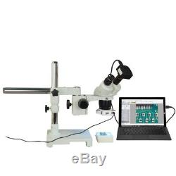 Binocular 5X-10X-15X-30X 10MP USB3.0 Digital Stereo Boom Microscope+56 LED Light