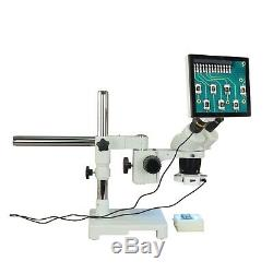 Binocular 5X-10X-15X-30X 5MP Touchscreen Stereo Boom Microscope+56 LED Light