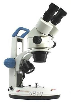 Binocular, Stereo Zoom Microscope, 7x-45x, Dual LED Stand