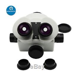 Binocular Trinocular Continuous Zoom Stereo Microscope View Head with Eyepiece