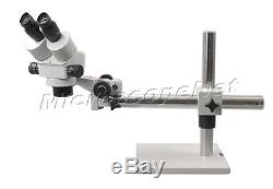 Boom Stand Binocular Stereo ZOOM Microscope 7x45x