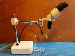 Boxed Amscope SE400z-LED 10X-20X LED Binocular Boom Arm Stereo Microscope