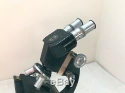 C Baker (London) Vintage Mono/Stereo/Binocular Microscope