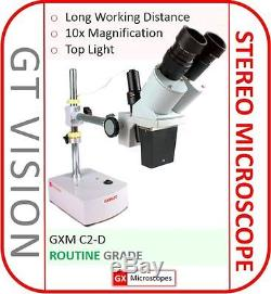 C2-D Stereo Microscope, Binocular Head, 10x Mag PCB/Phone Repairs REFURBISHED