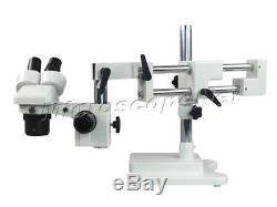 Dual-bar Binocular Stereo Microscope 20X-40X-80X with Boom Stand