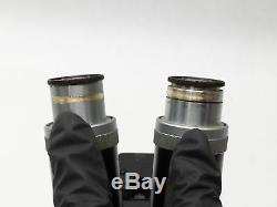 ERNST LEITZ WETZLAR STEREO BINOCULAR MICROSCOPE With 12.5X EYEPIECE + 12x/4x LENS
