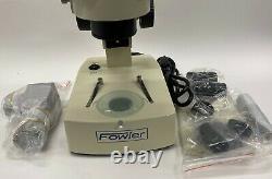 Fowler 53-640-877 Tri-Ocular Stereo Zoom Microscope, 7X-45X Magnification
