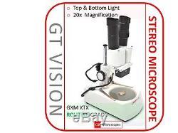 GX Microscopes, 1276 XTX-1C Binocular Stereo Microscope Kit, 20x-120x Mag