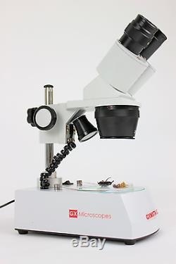 GX Microscopes GXM XTX-3C Binocular Dual Magnification Stereo Microscope with Bu
