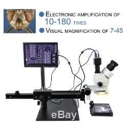 High Definition Stereo Microscope Binocular Visual 745X With light Electronic