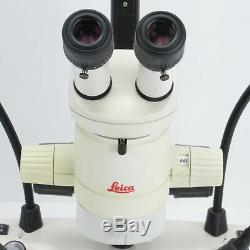 LEICA MZ6 STEREO MICROSCOPE With 1X OBJ, DUAL LED LIGHT STAND & 10X EYEPIECES