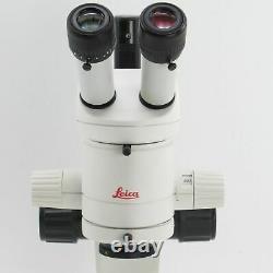 LEICA MZ6 STEREO MICROSCOPE With 1X OBJECTIVE, LED LIGHT & 10X EYEPIECES MZ 6