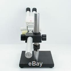 LEICA MZ6 STEREO MICROSCOPE With BOOM STAND, 0.8X OBJECTIVE, LIGHT & 10X EYEPIECES
