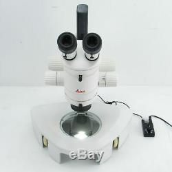 LEICA MZ6 STEREO MICROSCOPE With LIGHT STAND, 2X OBJECTIVE & 10X EYEPIECES MZ 6