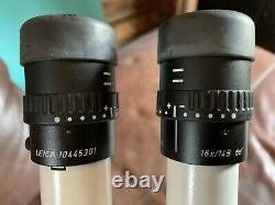LEICA MZ6 STEREO MICROSCOPE With SLIDING STAND, 1X OBJECTIVE & 16X EYEPIECES MZ 6