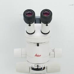 LEICA MZ6 STEREO MICROSCOPE With STAND, 1X OBJECTIVE, LIGHT & 10X EYEPIECES MZ 6