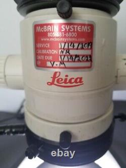LEICA MZ6 Stereo Zoom Microscope with 10x Leica Eyepieces Focus Stand LED Light