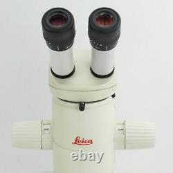 LEICA MZ75 STEREO ZOOM MICROSCOPE With PLAN 1X OBJ, 16X EYEPIECES & LED LIGHT RING