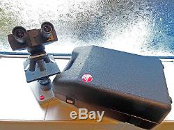LETZ HM-LUX 3 STEREO/BINOCULAR MICROSCOPE with case SUPERB CONDITION