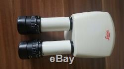 Leica Binocular Tube Head For Mz Series Stereo Microscope 10445619 + Eyepieces