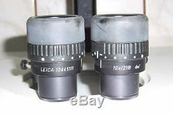 Leica MS5 MS-5 Stereo mikroskop Binokular microscope binocular Okulare Objektiv
