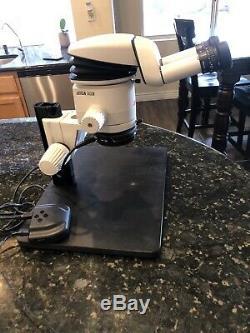 Leica MZ6 Stereo Microscope Body 10445614 & Leica Head 10445822 Ergo Head