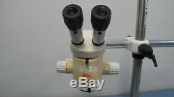 Leica Mz6 Stereo Microscope W. Diagnostic Boom Stand, 0.5x Objective &ring Light