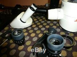 Leica Mz9.5 Stereo Zoom Microscope Objective, Eye Pieces, Stand
