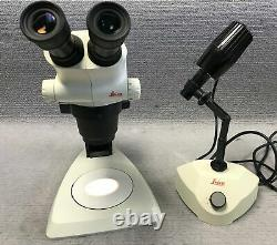 Leica S6E Stereo Microscope 6.3x 40x Stand and Lamp with Holder Warranty