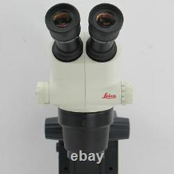 Leica S6e Stereo Zoom Microscope With Light Stand And 10x Eyepieces