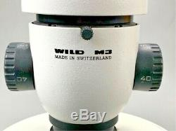 Leica Wild Heerbrugg M3 Stereo Microscope w 2 10x/21 Eyepieces
